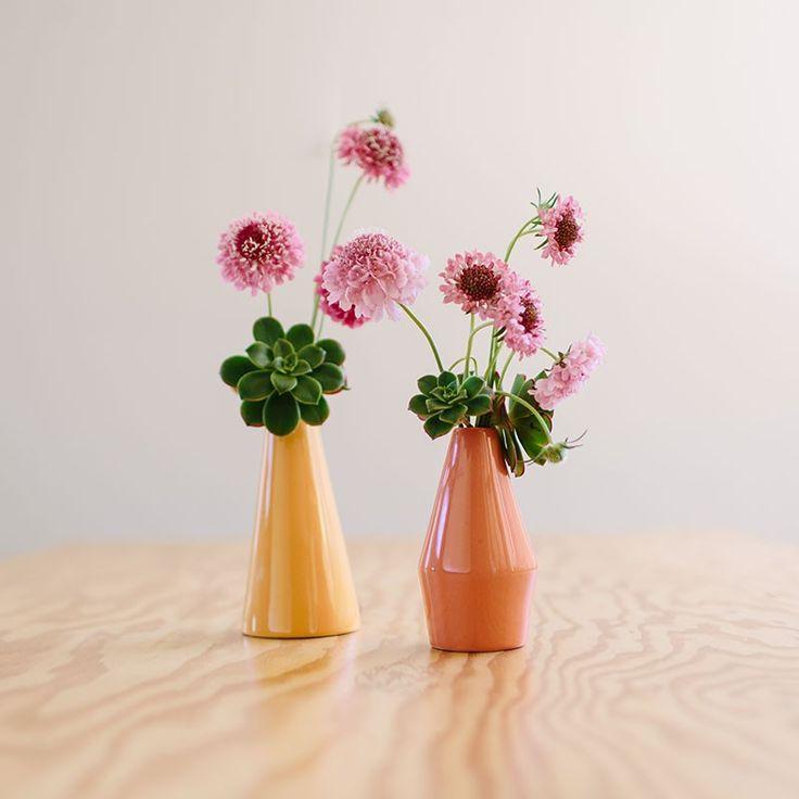 LINO Vases, Set of 2 - Peachy Sunset Hues - Accessories - Dinnerware