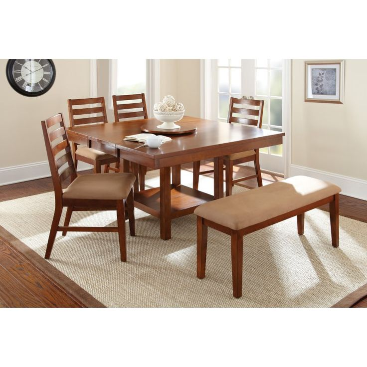 Steve Silver Eden Table With 18 In Lazy Susan