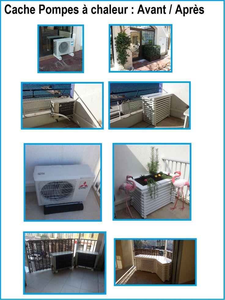 caches pac avant apr s info caissons insonorisation pompe chaleur pinterest. Black Bedroom Furniture Sets. Home Design Ideas