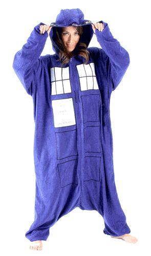 Doctor Who Police Booth Tardis Hooded Kigurumi One Piece Pajama