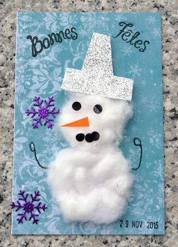 Carte de Noël à faire avec les enfants