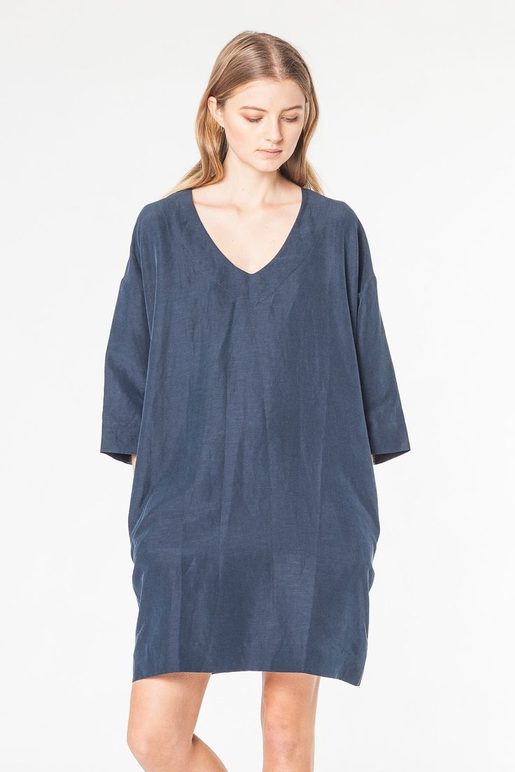 FLOAT SILK PONCHO - DRESSES - SHOP WOMENS Assembly Label