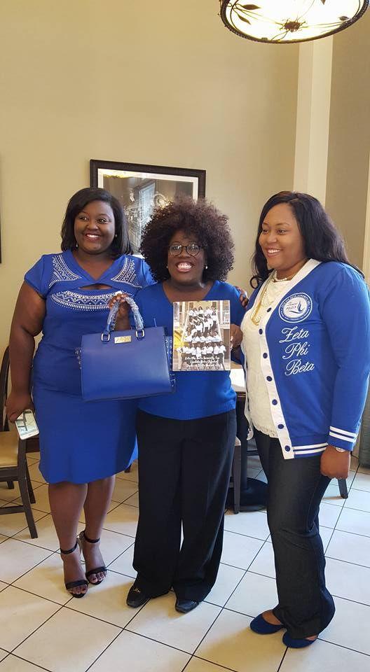 Sorors of Lambda Beta Chapter Jackson State University presenting gift to our Past International President, Soror Sheryl Underwood- 2016