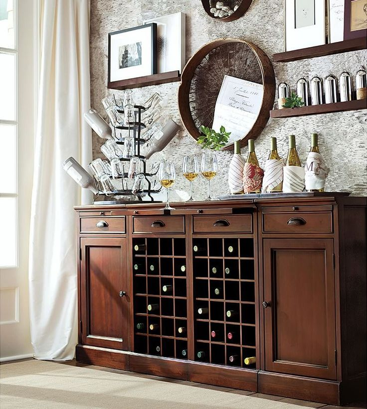 Modular Bar Buffet with 2 Wine Grid Bases & 2 Cabinets 🍷🍷: Pottery Barn - twitter