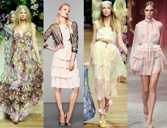Девушки в романтических платьях разной длины
