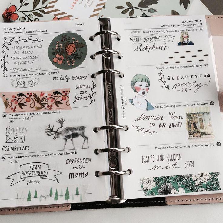 Meine aktuelle Woche #filofaxing #currentweek #washitape #ladolcevita #riflepaperco #botanicals #birthday #filofax #filofaxdeutschland #filofaxdecoration #wochendeko
