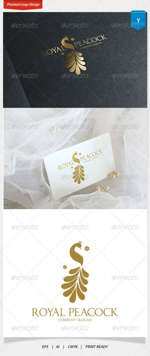 Royal Peacock Logo — Vector EPS #boutique #luxury • Available here → https://graphicriver.net/item/royal-peacock-logo/8745218?ref=pxcr