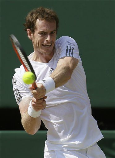 Andy Murray became the first British man in 77 years to win the Wimbledon title, beating Novak Djokovic 6-4, 7-5, 6-4 in Sunday's final. (via @The Associated Press)