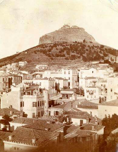 1900 ~ Kolonaki and Lycabettus Hill, Athens