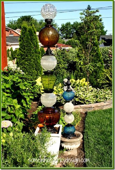 20 Diy Garden Art Projects To Do Towers Building And Glass