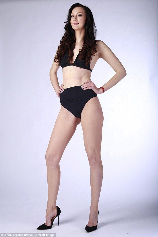 Standing at 6ft 9in in her bare feet, Ekaterina, from Penza, Russia, has already been named the tallest woman in Russia