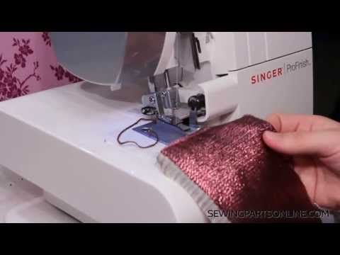 rolled hem on serger - love that she acknowledges that the settings depend on the mood of your serger ;) so true!