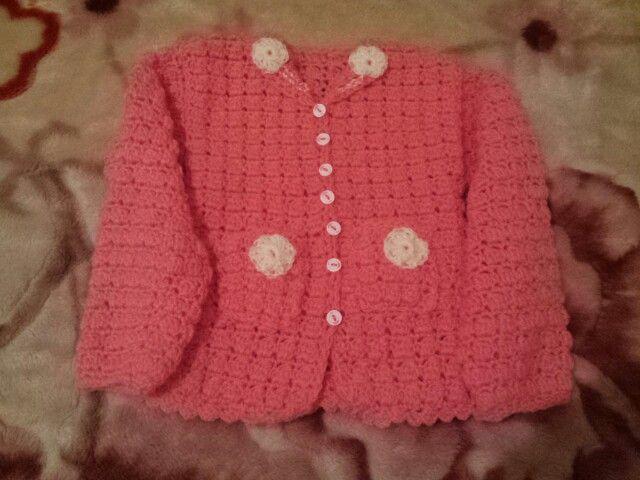 Crochet girl jacket