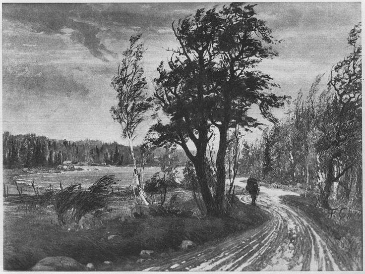 Herbstlandschaft. (Beschreibung lt. Quelle) 1874, Fanny Maria Churberg (1845-1892)