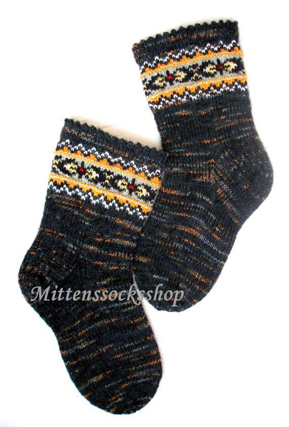 Hand knitted socks Wool socks Warm socks from sock yarn with kid mohair Patterned socks with latvian ornament Men's socks Women's socks Gift
