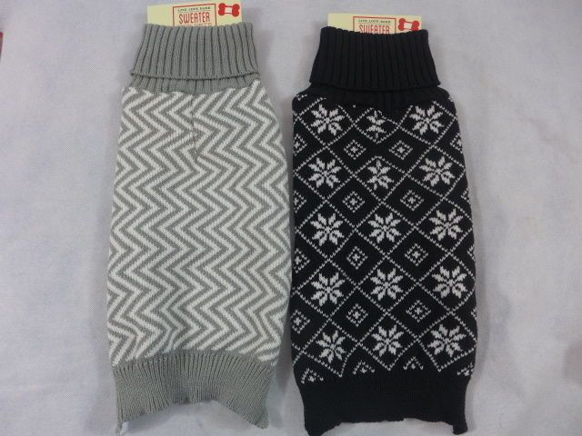 Dog Sweater  Ugly Pet Sweater Time Gray & White or Black & White Medium New #PetKingInc