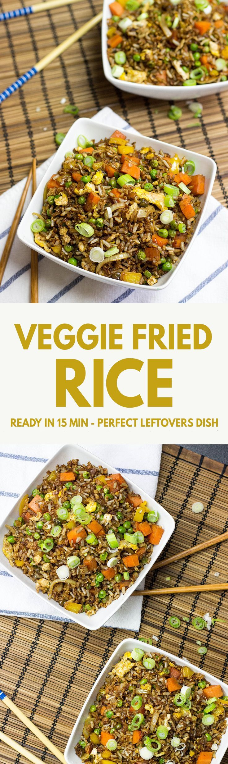 Vegetarian Fried Rice - one of the most delicious ways to use up leftovers! | http://hurrythefoodup.com