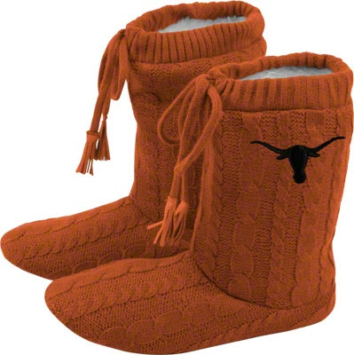 Texas Longhorns Women's Knit Boot Slippers...GIFT! #1 on my list