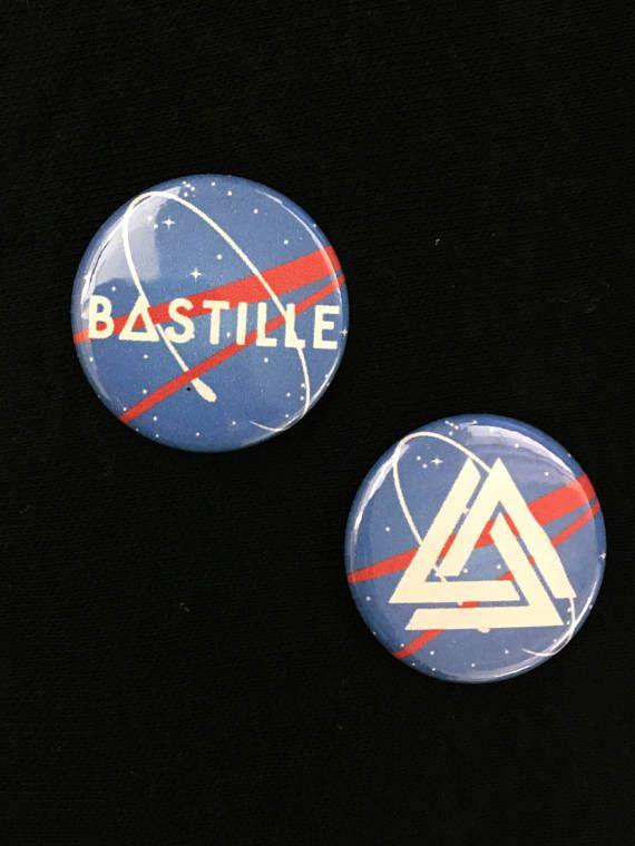 Bastille Band NASA Inspired Pin Badge  Bastille Pins