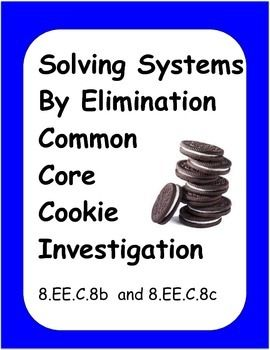 Algebra Common Core Activity: Solving Systems Cookie Inves