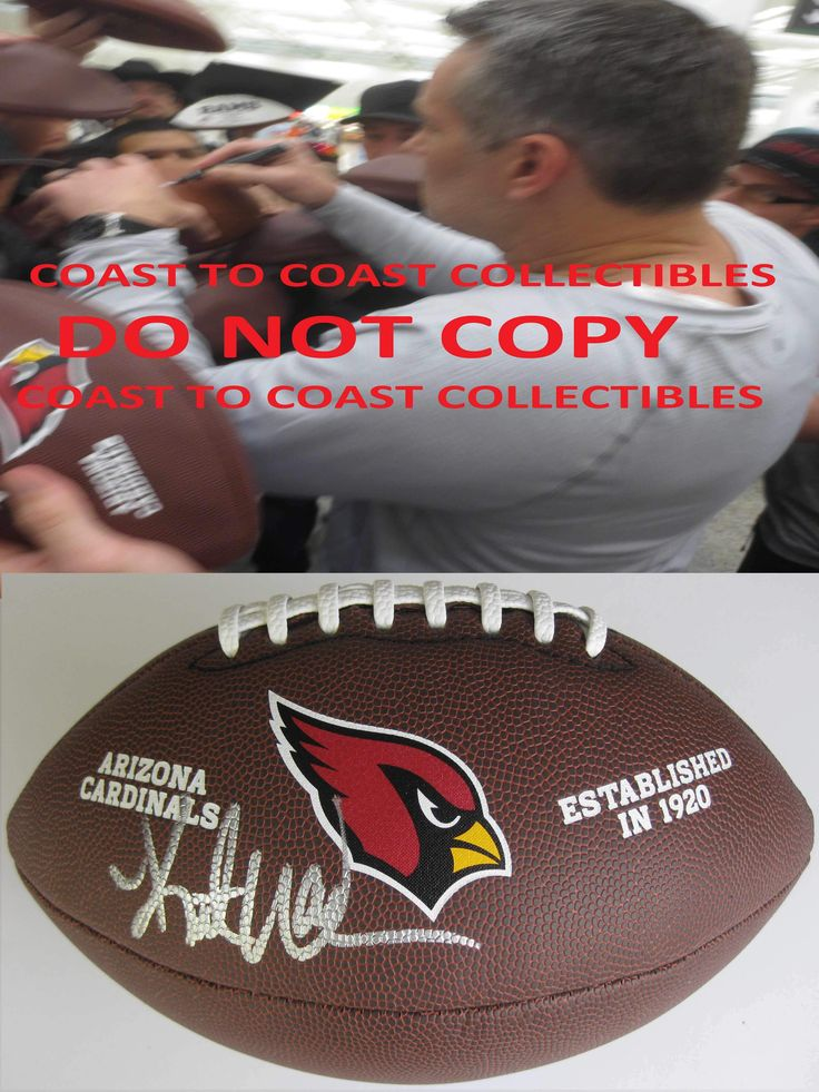Kurt Warner Arizona Cardinals, Signed, Autographed, NFL Logo Football, a Coa with the Proof Photo of Kurt Signing Will Be Included.
