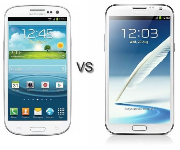 Galaxy S3 vs Galaxy Note 2 Comparison: The Best Android by Samsung?
