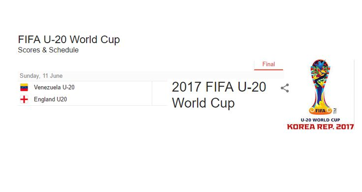 Venezuela vs England will play in final The performance of both teams was very good in yesterday's match. Both teams showed that great performance in their last match which surprised the viewer. You are now going to end the wait because FIFA U 20 World Cup Final 2017 is going to be on June 11.