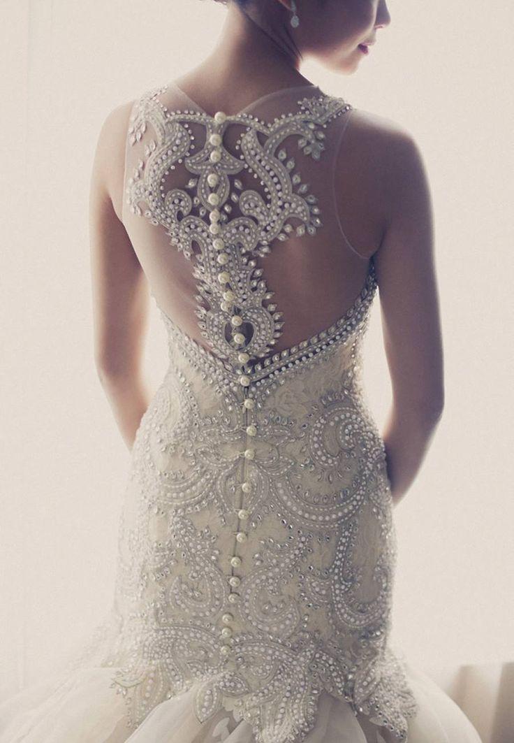Veluz wedding dress back details wedding dresses for Wedding dress with back detail