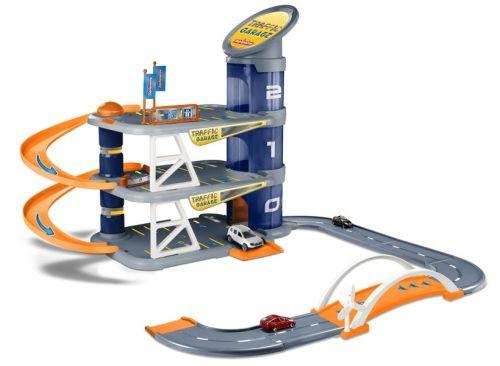 Garage pour enfant Traffic garage Majorette-ascenseur piste, garage idéal!