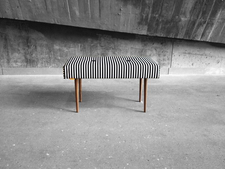 BENCH | take a seat | stripe with natural finish legs www.benchtakeaseat.com