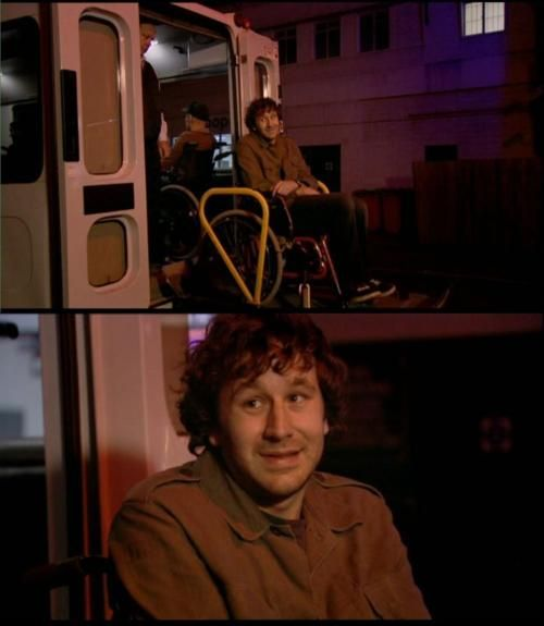 """I'm disabled.""- The IT Crowd.  Funniest episode of all time for any TV show. Hands down."