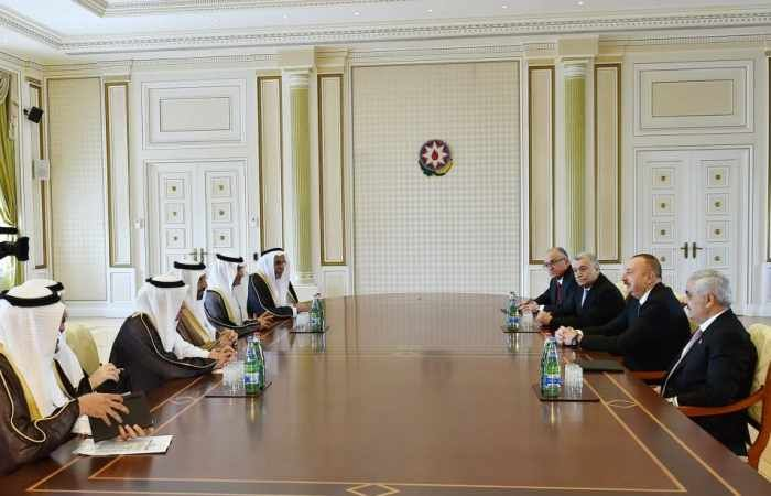 President of the Republic of Azerbaijan Ilham Aliyev received a delegation led by Minister of Energy, Industry and Mineral Resources of the Kingdom of Saudi Arabia Khalid Abdulaziz Al-Falih Apr. 26.