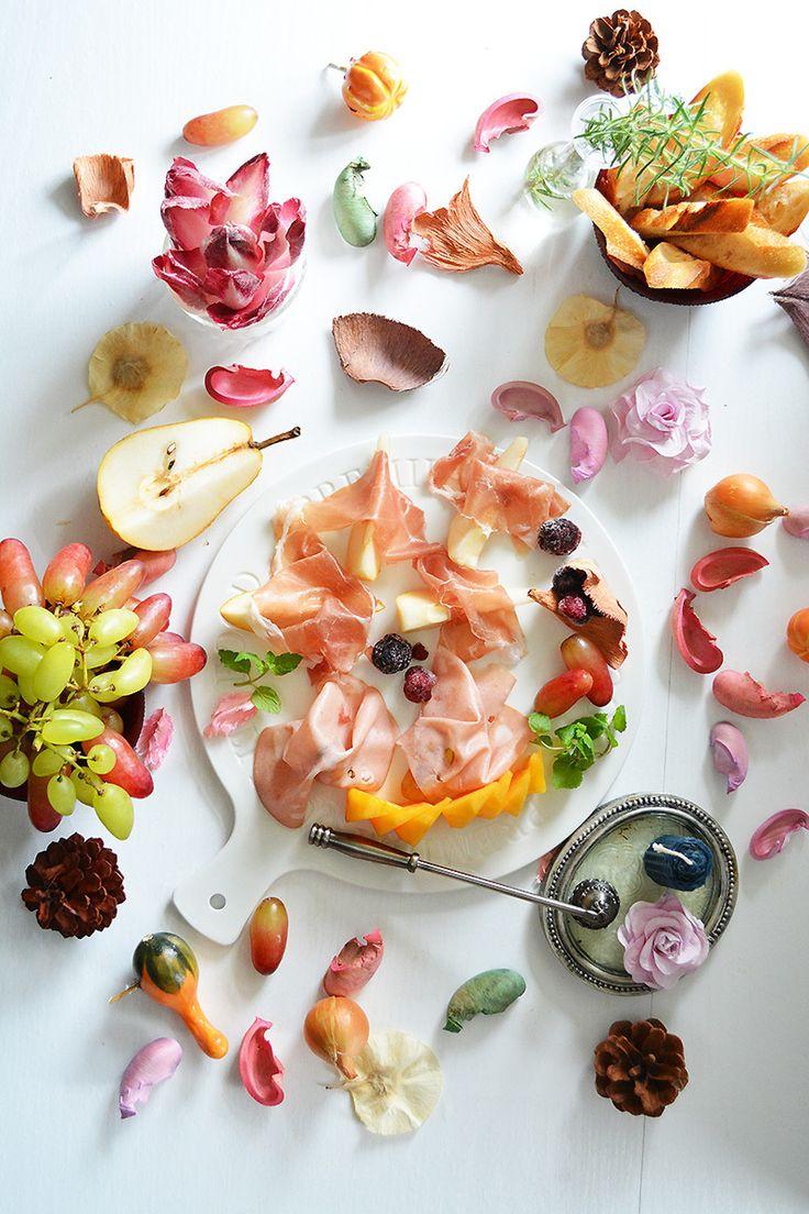 ハムと秋のフルーツを盛り付けた前菜 by 青山清美(金魚)   レシピサイト「Nadia   ナディア」プロの料理を無料で検索