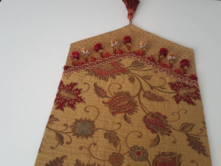 Gold and Red Floral Table Runner, Elegant Table Runner - Size 68 in x 15 in by CVDesigns on Etsy