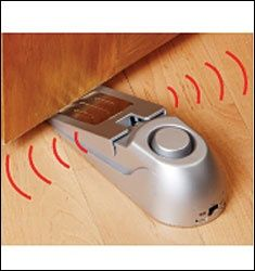 alarms when a door is open. great for alzheimers patients or kids who should be grounded to their rooms.