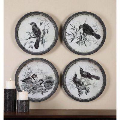 Uttermost Birds In Nature Framed Art - Set of 4 - 55028