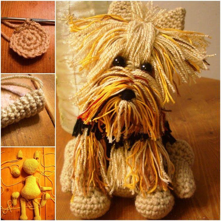 DIY Crochet Adorable Amigurumi Stuffed Yorkie Dog with Free Pattern