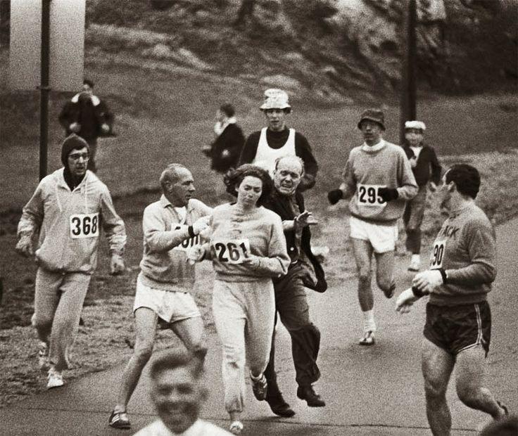 ensalada de espacios y tiempos: Kathrine Switzer cuenta como vivió el maratón de Boston de 1967