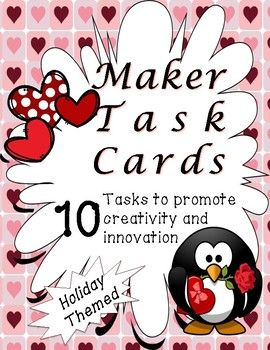 Makespace Task Cards - Valentine's Day