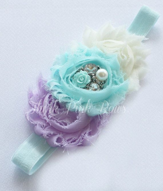 Baby Headband Headband baby girl headbandNewborn by ThinkPinkBows, $8.95