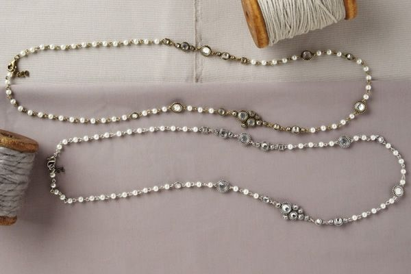 Night Out Pearl and Gemstone Necklace