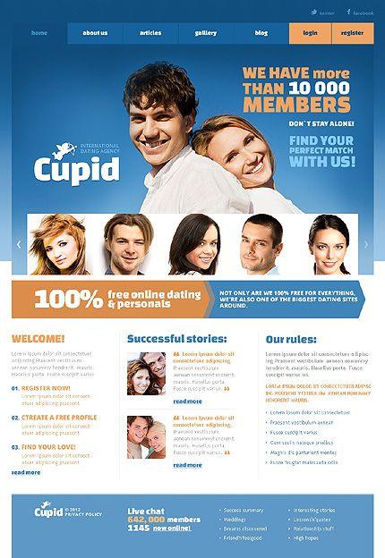 Cupid Dating Joomla Templates by Glenn