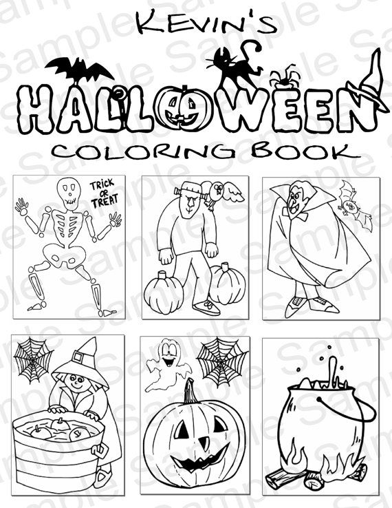 9 best Customizable & Printable Coloring and Activity Books images ...
