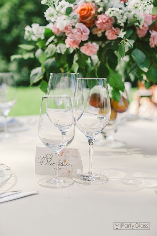 Glasses and place cards