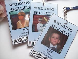 Security Badge for ring bearer