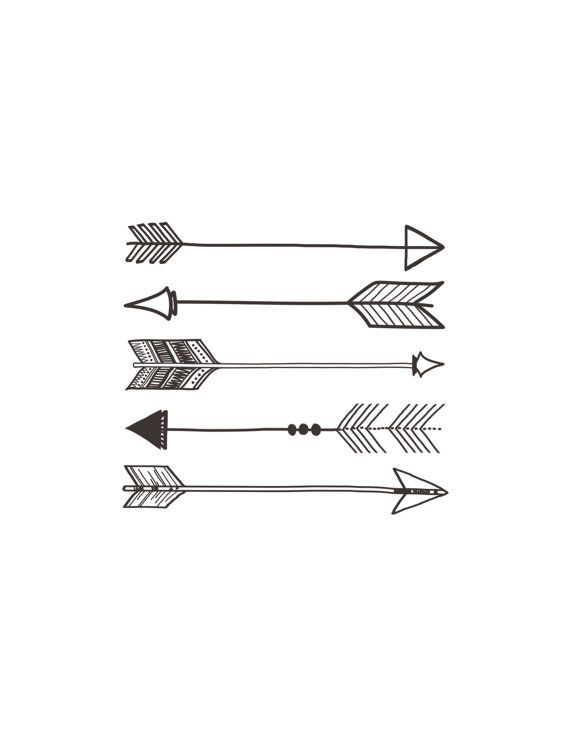 Arrows Print by TwoThirdsHazel on Etsy, $10.00