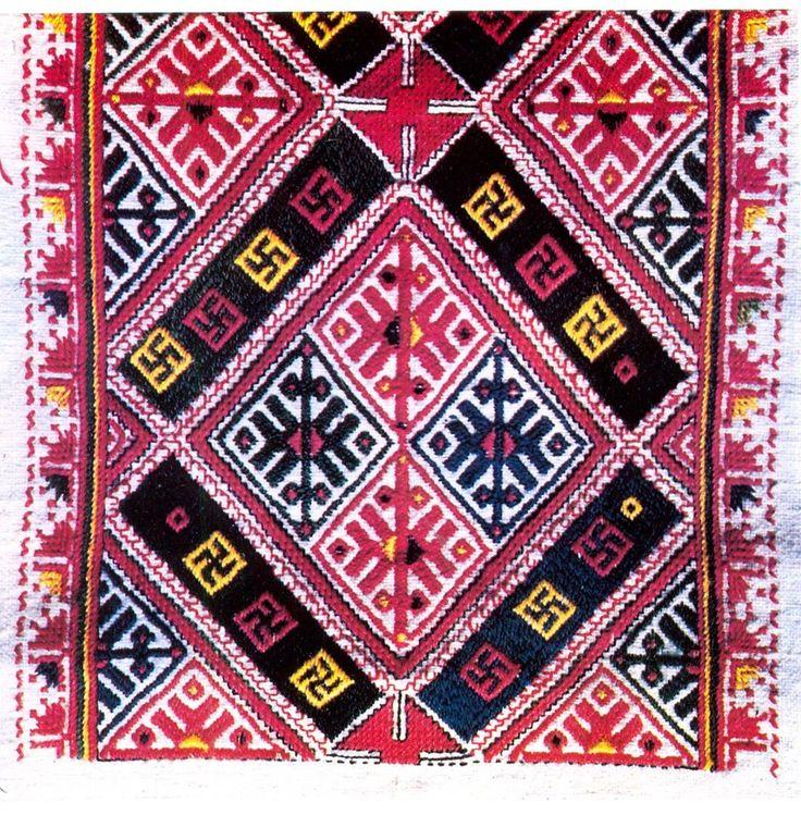 Везбен мотив от ръкав на женска риза от Старопланинските села в Софийско, края на 19 век / An embroidery pattern of female chemise from Sofia district, late 19th century