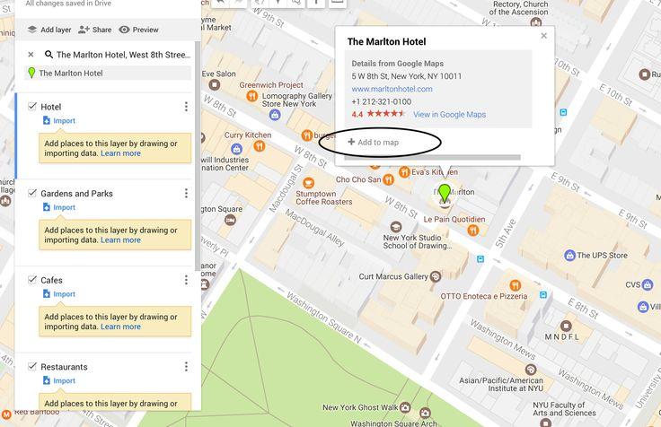 10 Step Tutorial to Make a Custom Google Map for Your Next Trip - York Avenue