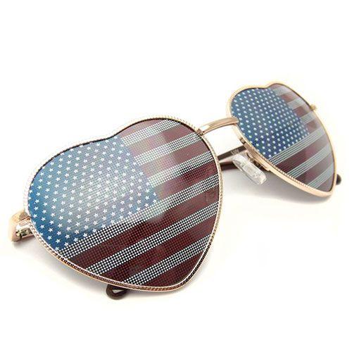 $19.99 USDLove Heart Frame American Spirit Lenses Sunglasses Shades