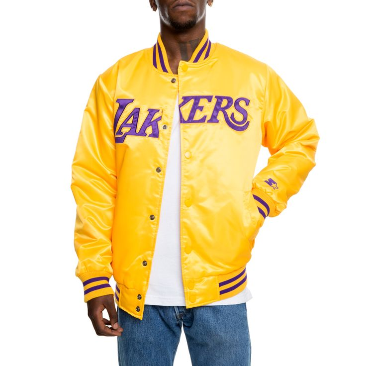 Los Angeles Lakers Jacket Ylw/prp/ylw